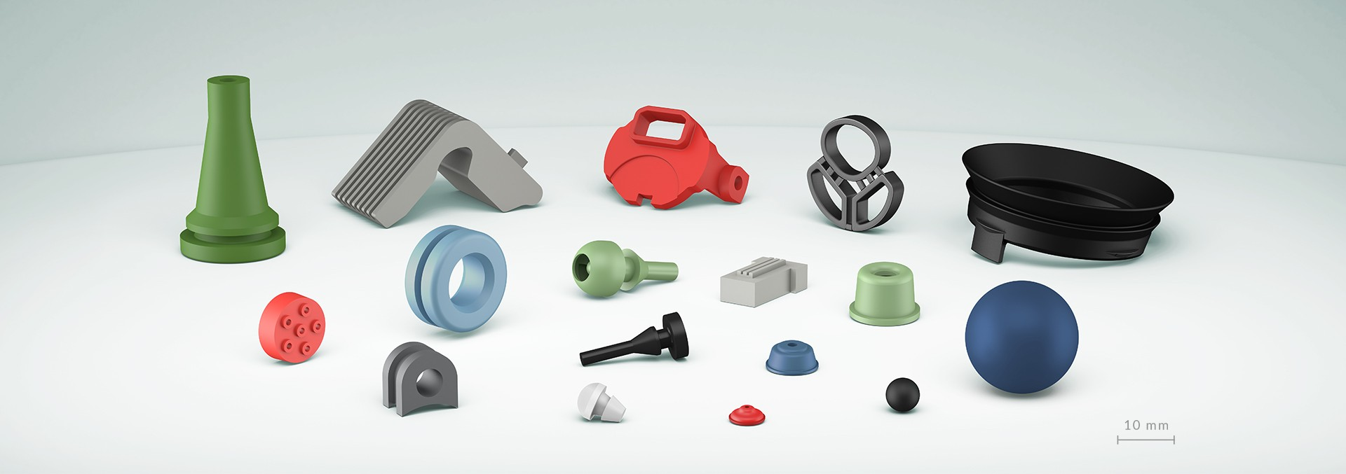 Molded rubber articles